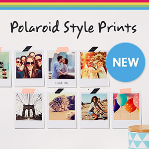 Email newsletter design for Polaroid Prints launch